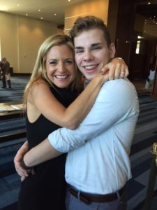 Luncheon speaker Glennon Doyle Melton with Jacob Wisch
