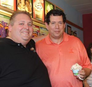 Submitted photo Hunter Rose (left) and Chuck Cooperstein on Free Cone Day
