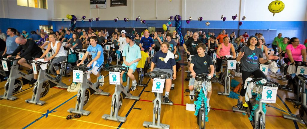 Photo: Alan Abair The Feb. 26, Wheel to Survive had 380 riders raised $334,229 (at press time), allowing the organization to give away its $2 millionth dollar this year.