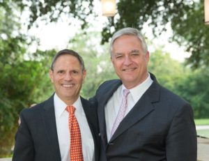 Submitted photo Marvin Blum (left) and Talmage Boston established a scholarship at the University of Texas' law school.