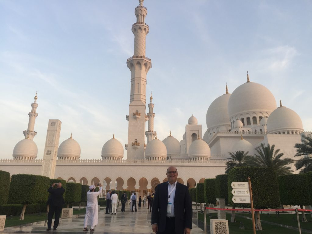 The Sheikh Zayed Grand Mosque, near downtown Abu Dhabi Photo: Rabbi Andrew M. Paley