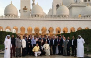 All the participants in front of the Grand Mosque