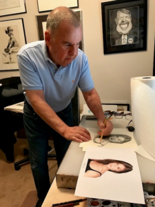Submitted photo Richard Baratz will showcase his caricatures during the next three months at Fort Worth's Beth-El Congregation.