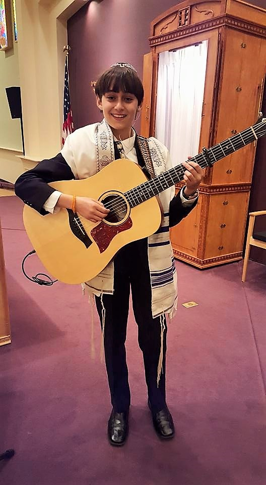 "Since his bar mitzvah in January, Andrew Goldstein has  joined his father Jonathan and Lori Spinhirne as rotating cantorial soloists at Congregation Adat Chaverim. ""For me, music and Judaism are almost the same and music's my pathway,"" he said.  ""Doing what I love, I'm thankful I've found a way to lead, and be led, simultaneously."""