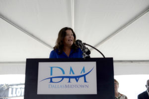 "Jaynie Schultz spoke at the Midtown groundbreaking. ""If we pull together and our corporations and foundations rise to the moment, our children and grandchildren will see Midtown Commons as a second home,"" she said."