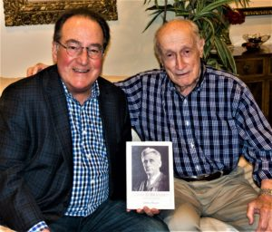 Photo: Jean Weinfeld  Dr. Baer Ackerman, left, and Bob Weinfeld, are readying the July 18 edition of the Guys Night Out Book of the Month Club. Beginning at 7 p.m. July 18, Ackerman will lead the discussion about Jeffrey Rosen's Louis D. Brandeis: American Prophet.