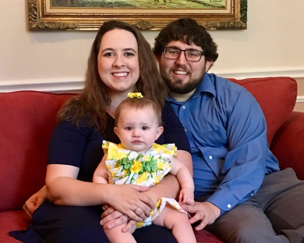 Heather and Matthew Nover, along with 11-month-old Jane Sarah, visited his family to celebrate his new position. He will add director of Hebrew High School at Congregation Neve Shalom in New Jersey to his current position as principal of religious school at Temple HaTikvah, also in New Jersey.