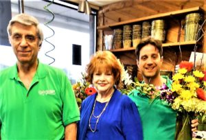 Submitted photo (From left) Lew, Dotty, and Brad Weinstein have a blooming business in Petals & Stems florist, celebrating 45 years this summer. For most of those years, the family has run their business from the same Montfort Drive storefront.
