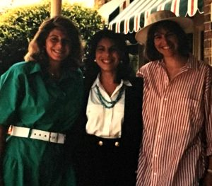 (left to right) Sally Waxler Oscherwitz, Caryn Statman Kboudi and Allison Silberberg, now Mayor of Alexandria, Virginia, when the threesome were BBYO best friends.