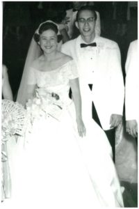 Melvin and Ettie Weinberg on their wedding day 60 years ago