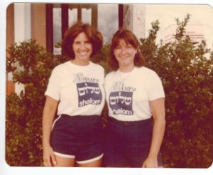 Eileen Martell (left) was the camp director in 1979.