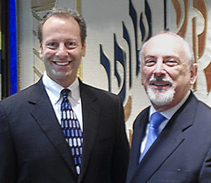 Cantor Howard Shalowitz (left) and Rabbi Shawn Zell