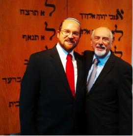 Rabbi Meir Sabo (left) and Rabbi Shawn Zell