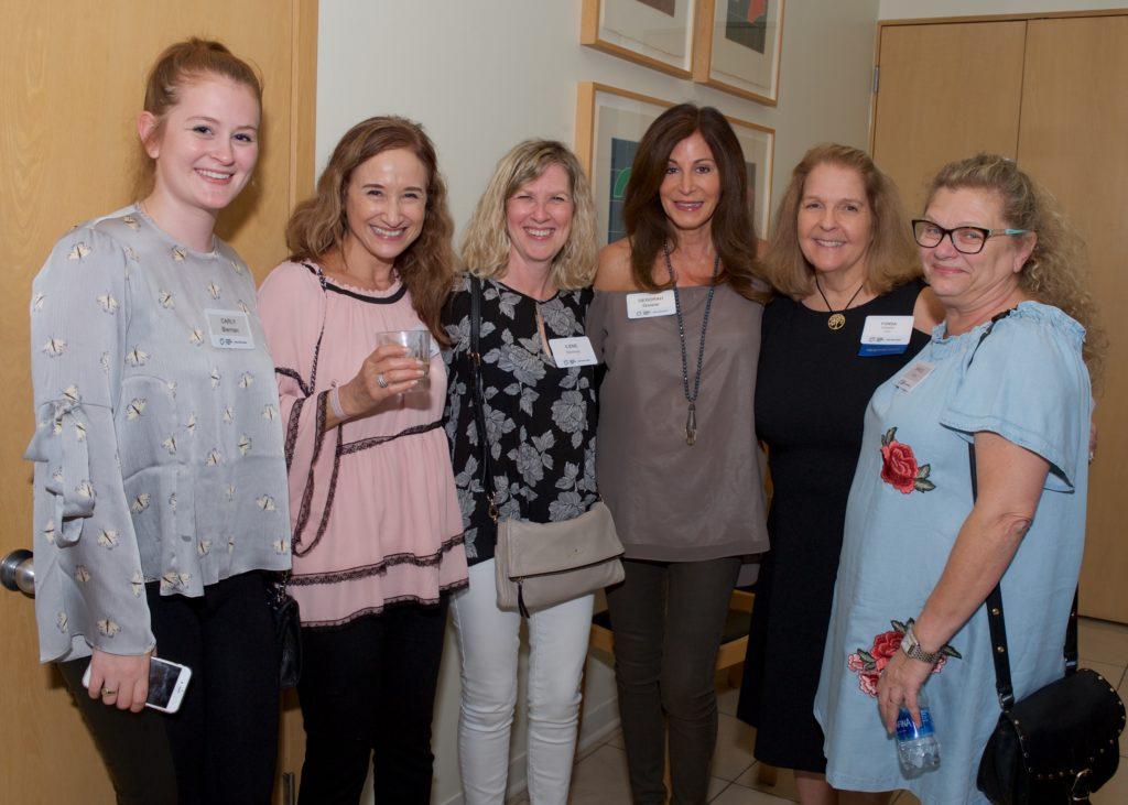 (From left) Carly Bierman, Chantal Itzhakov, Ilene Bierman. Deborah Gaspar, JNF Reception Co-chair Fonda Arbetter and Marcel Solman