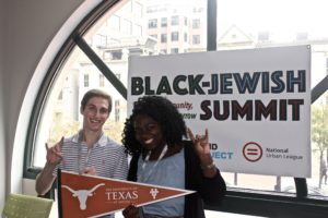 Photo: The David Project University of Texas students Jason Epstein and Kayla Eboreime attend the Black-Jewish Summit in Washington, D.C.
