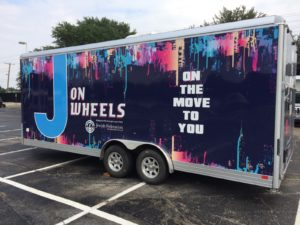 Submitted photo The J on Wheels, which travels around the Dallas area and provides J programming, is an example of a program funded through a Federation grant.