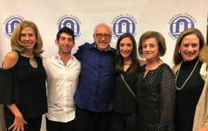 (Left to right) Melanie, Michael Kerner, Stuart Blaugrund, Bari Golin-Blaugrund, Louann Leeds-Pranses and Emily Blaugrund Fox