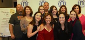 (Back row, left to right) Brad Welcher, Debbie Cohn, Gretchen Edwards, Harvey Swento, Amy Gross, Shawn Frank and Cynthia Brooks; (front row) Bethany Last, Kim Velevis, Jennifer Hersh, and Kimberly Mabel