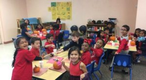 Ms. Otey's kindergarten art class