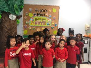 Ms. Matto's kindergarten class during drug-free week