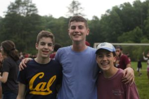 Ari Weiss (center) with his friends Ayden (left) and Ethan Fine