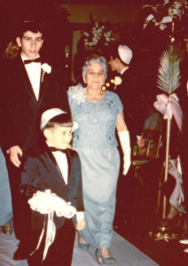 Dan (front) with his oldest brother, Alan, and his maternal grandmother