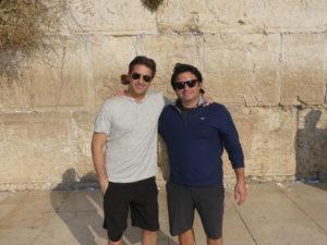Brett and Adam Diamond at the Kotel