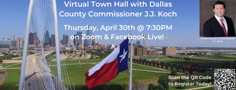 Dallas Jewish Conservatives Virtual Town Hall with Dallas County Commissioner J.J. Koch