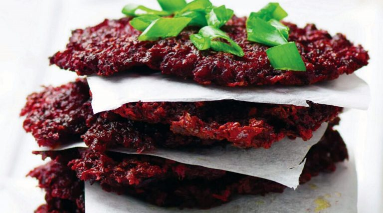 Add some color to Hanukkah: savory beet latkes
