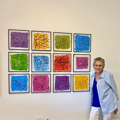 Read more about the article Anita Dellal brightens up JFS offices with art panels